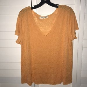 Urban Outiftters project social T orange v neck